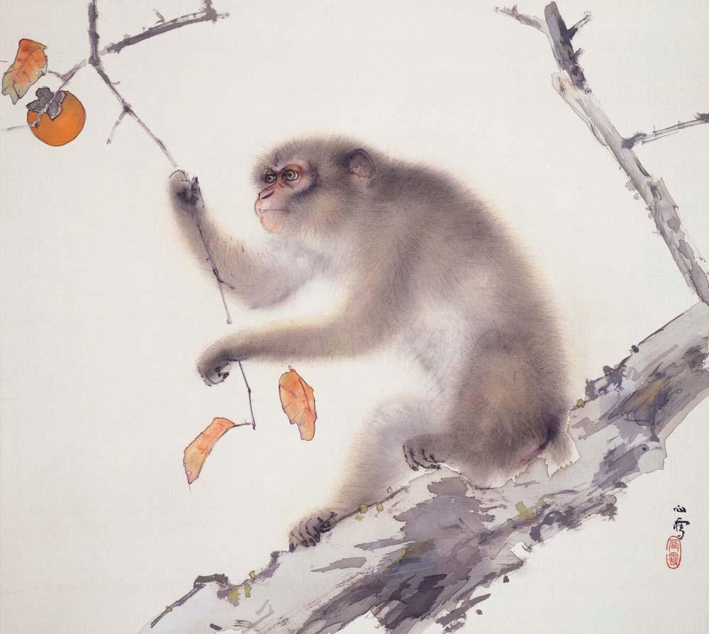 橋本関雪「猿」下全体