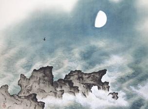 横山大観「海潮四題・夏」HP幅304
